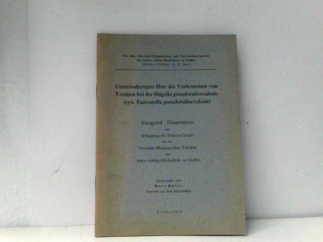 Untersuchungen über Das Vorkommen Von Toxinen Bei Der Shigella Pseudotuberculosi HeißEr Verkauf 50-70% Rabatt Fachbücher & Lernen Bücher