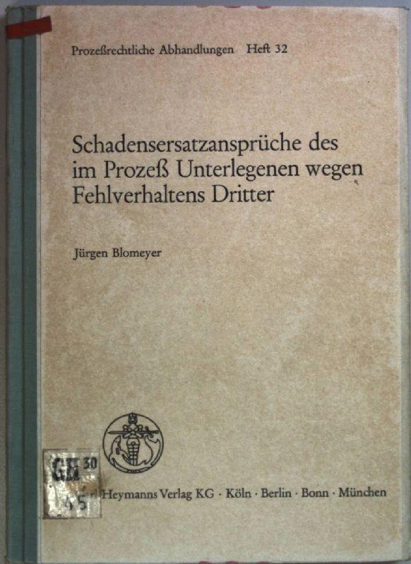 3452174344 - jürgen blomeyer - schadensersatzansprüche des im