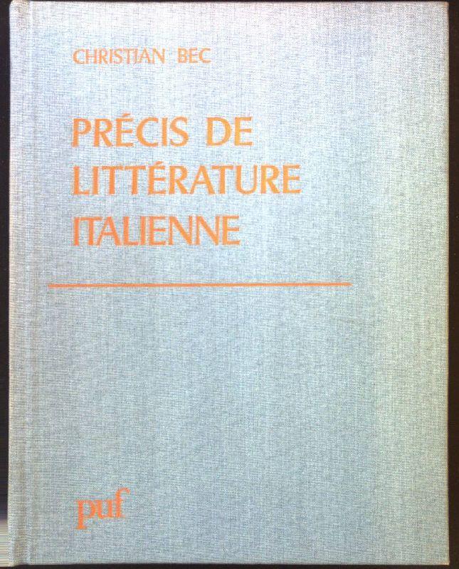 Précis de littérature italienne - Bec, Christian