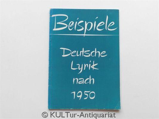 Beispiele. Deutsche Lyrik nach 1950. Eine Auswahl für Höhere Schulen. - Heidi, Gidion und Gidion Jürgen