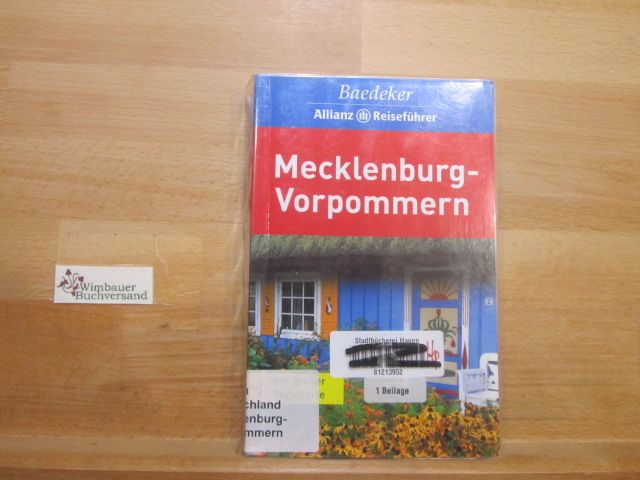 Mecklenburg-Vorpommern. [Textbeitr.:... Bearb.: Baedeker-Red. (Dina Stahn  Helmut Linde). Chefred.: Rainer Eisenschmid] / Baedeker-Allianz-Reiseführer - Berger, Christine, Dina (Bearb.) Stahn und Rainer (Red.) Eisenschmid