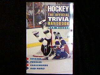 The Official Trivia Handbook. - Weekes, Don