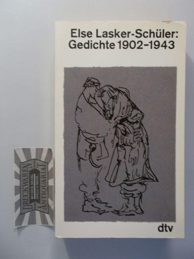 Gedichte 1902-1943. (Gesammelte Werke in acht Bänden. Band 1). - Lasker-Schüler, Else