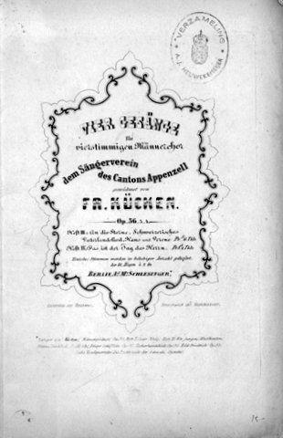 KÜCKEN,  FRIEDRICH WILHELM: - [Op. 36, Nr. 4] Vier Gesänge für vierstimmigen Männerchor. Op. 36. [No.] 4