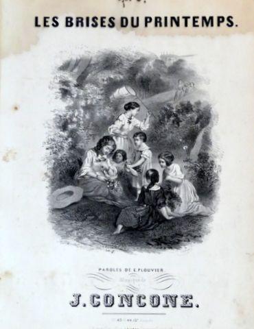 CONCONE,  GIUSEPPE: - Les brises du printemps. Paroles de E. Plouvier (Le monde musical. No. 43 et 44. 13e annee)