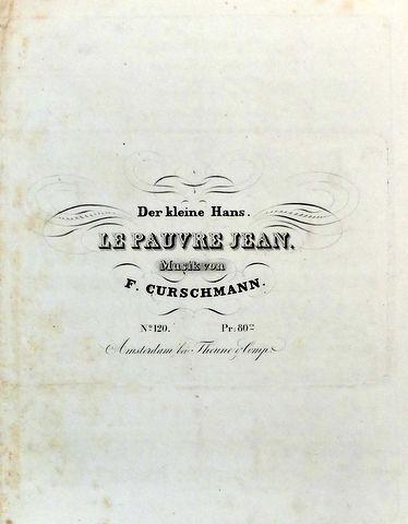 CURSCHMANN,  KARL FRIEDRICH: - Der kleine Hans. Le pauvre Jean