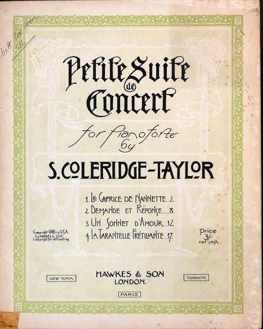 COLERIDGE-TAYLOR,  SAMUEL: - Petite suite de concert for pianoforte