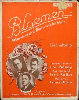 DOELLE,  FRANZ: - Bloemen. Lied en foxtrot. Hollandsche tekst Lou Bandy