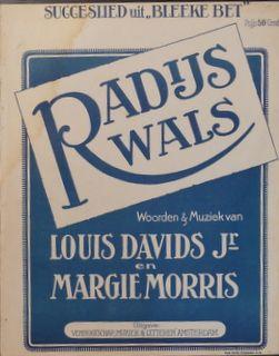 DAVIDS,  LOUIS & MARGIE MORRIS: - Radijs wals. Succeslied uit