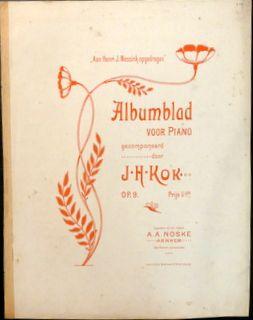 Kok. J.H.: - Albumblad voor piano