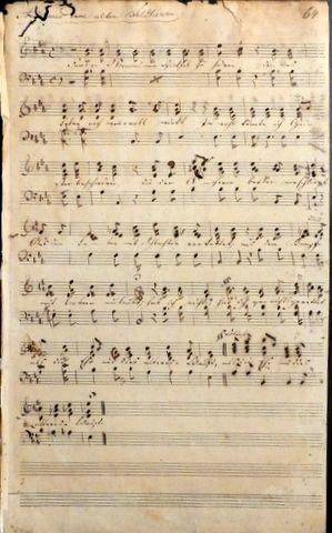 HOLTEI, K. VON: - [Musikmanuskript d. Zt.] Arie aus dem alten Feldherrn