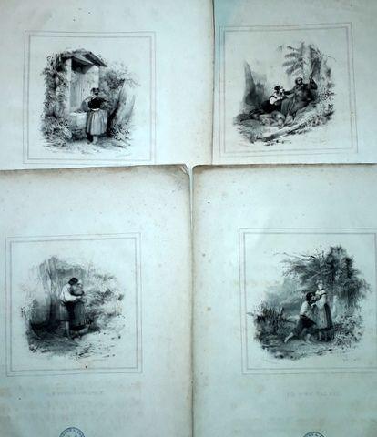 LABARRE, THÉODORE: - [collection de 4 romances avec 4 titres illustrées par Jules David]