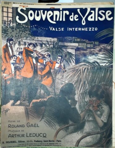 LEDUCQ, ARTHUR: - Souvelir de valse. Poème de Roland Gaël