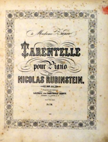 Tarantelle pour piano. Op. 14