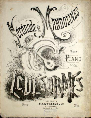 DESORMES,  L.C.: - Sérénade de mandolines pour piano