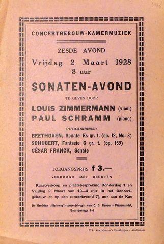 [Flyer] Concertgebouw-Kamer...