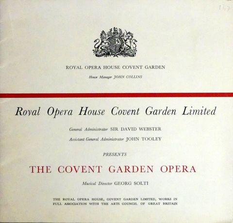 [Programmbuch] Royal Opera ...