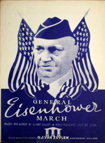 LEUR,  JOOP DE (ARR.): - Generaal Eisenhouwer march. Music and words G.J. van Zuylen