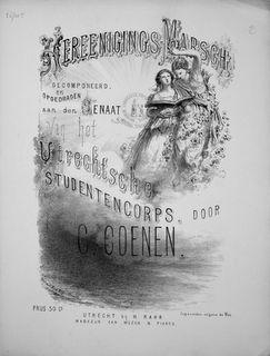 COENEN,  C.: - Vereenigings-marsch... opgedragen aan den Senaat van het Utrechtsche Studentencorps