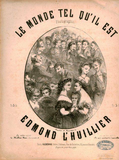 LHUILLIER,  EDMOND: - Le monde tel qu`il est. Photographie. Paroles et musique de Edmond L`Huillier