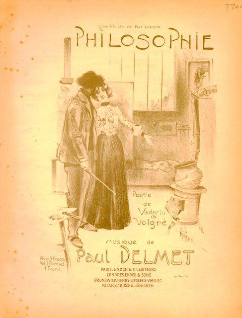 DELMET,  PAUL: - Philosophie. Poésie de adorin Volgré