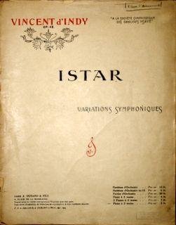 D`INDY,  V.: - [Op. 42] Istar. Variations symphoniques. Op: 42. Pianonos à 2 mains [Gustave Samazeilh]