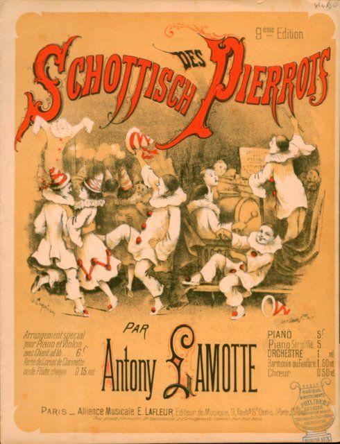 LAMOTTE,  ANTONY: - Schottisches des Pierrots. Piano. 9ème édition
