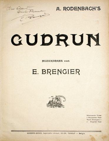 A. Rodenbach`s Gudrun. Muzi...