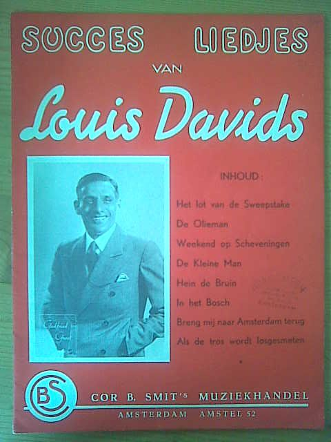 DAVIDS,  LOUIS: - Succes liedjes van Louis Davids