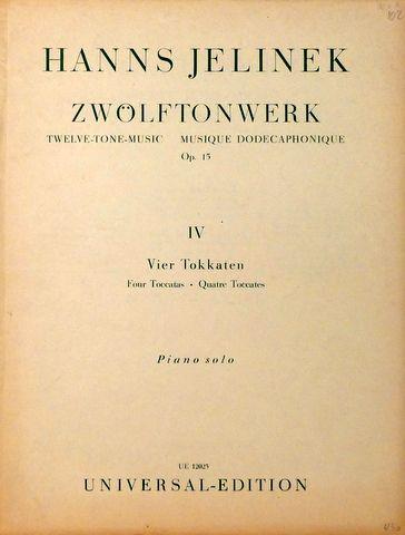 Zwölftonwerk. Op. 15. 1. Fo...