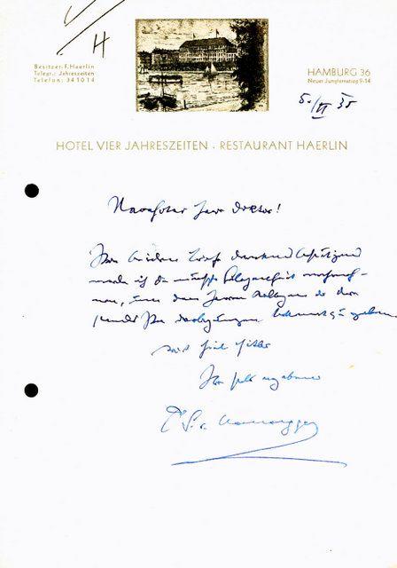 Briefe Datum Und Ort : Eigenh brief mit ort datum und unterschrift hausegger