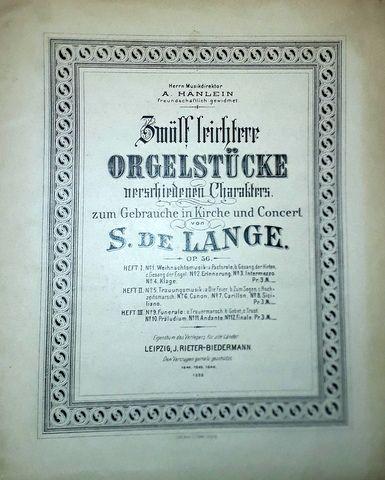 Zwölf leichtere Orgelstücke...