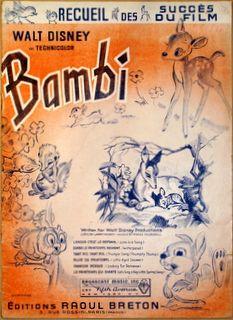 DISNEY,  WALT: - [Bambi] Recueil des succès du film