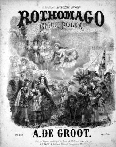 DE GROOT,  A.: - Rothomago. Gigue-Polka [pour piano]