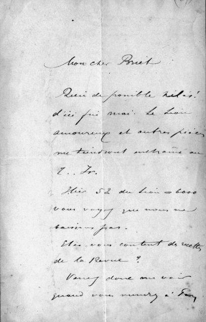 COQUELIN AÎNÉ (1841-1909)): - [Lettre autographe signée]
