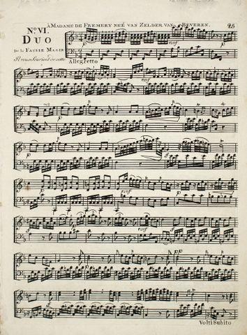 COLIZZI,  GIOVANNI ANDREA K.: - [Recueil des Quatuors, trios, et duos. Des opéras français qui ont eu le plus succès. Arrangés pour le clavecin ou piano-forte avec accompagnement d`un violon. No. III-VI, XIII, X, XI]
