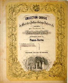 CONVERT,  JOS.: - Fête champêtre galop (Collection choisie de marches, polkas, valses etc. exécutés par l`orchestre du Fransche tuin arrangés pour le piano-forte; no. 2)