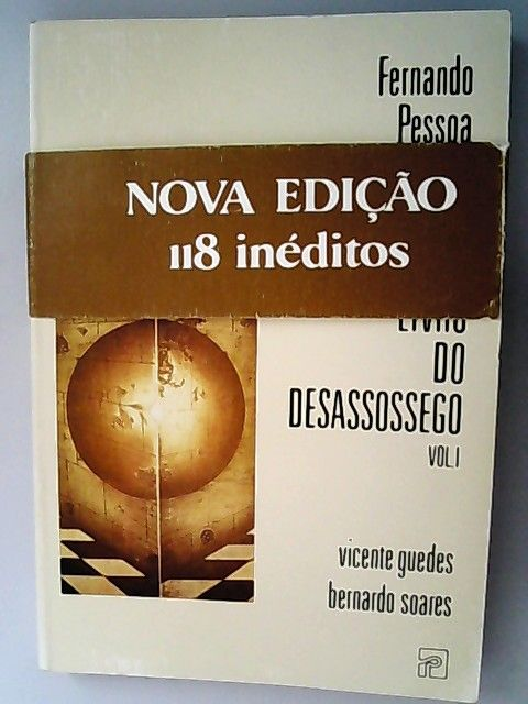 Livro do desassossego. Vol I. - Guedes, Vincente und Bernardo Soares