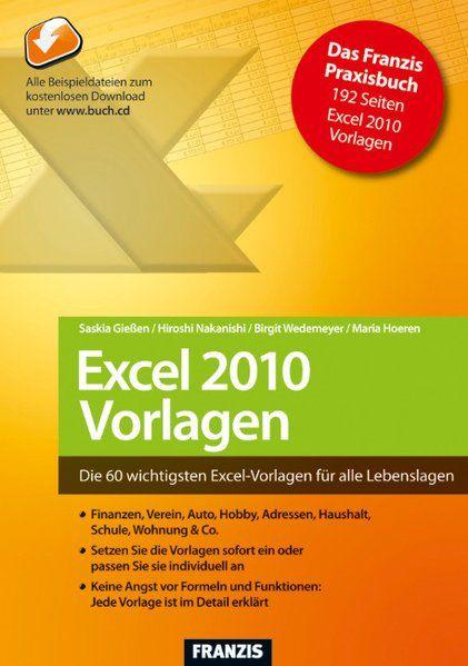 Excel 2010 - Vorlagen - Saskia, Gießen, Hoeren Maria Nakanishi Hiroshi  u. a.