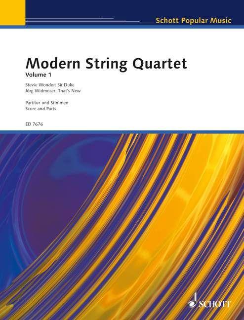 Modern String Quartet Volume 1 (Reihe: Modern String Quartet) - Widmoser, Jörg / Wonder, Stevie; Widmoser, Jörg (Bearb.)