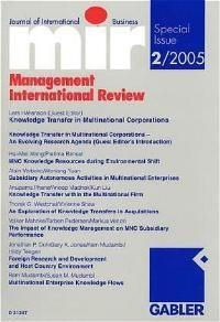 Knowledge Transfer in Multinational Corporations von Klaus Macharzina (Autor), Lars Hakanson  Auflage: 1 (2005) - Klaus Macharzina Lars Hakanson