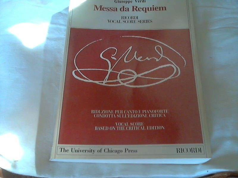 Messa Da Requiem: Piano-Vocal Score (Works of Giuseppe Verdi: Piano Vocal Scores) ,Taschenbuch - Verkürzte,  December 2000 - Rosen, David und Giuseppe Verdi