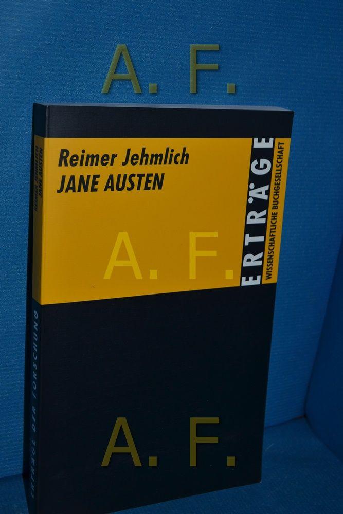 Jane Austen (Erträge der Forschung 286) - Jehmlich, Reimer