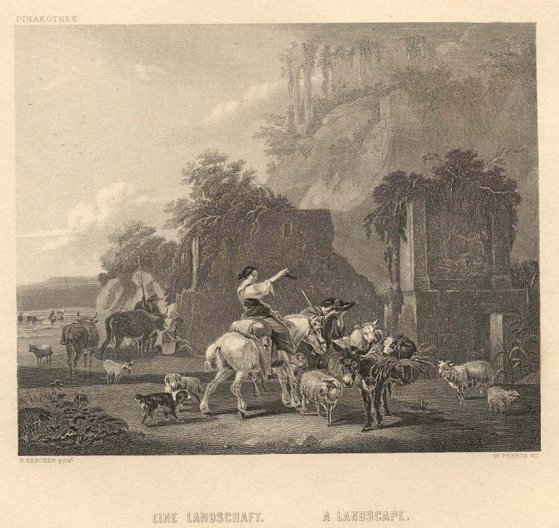 Eine Landschaft A Landscape Druck U Verlag V A H Payne