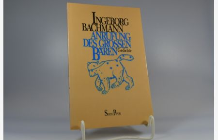 Anrufung Des Grossen Bären Gedichte Bachmann Ingeborg